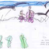 [7세 어린이] 나는 우리 가족들과 바다에 갔어요