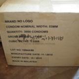 에이즈 예방을 위해 나눠 줄 콘돔 박스(3000개)
